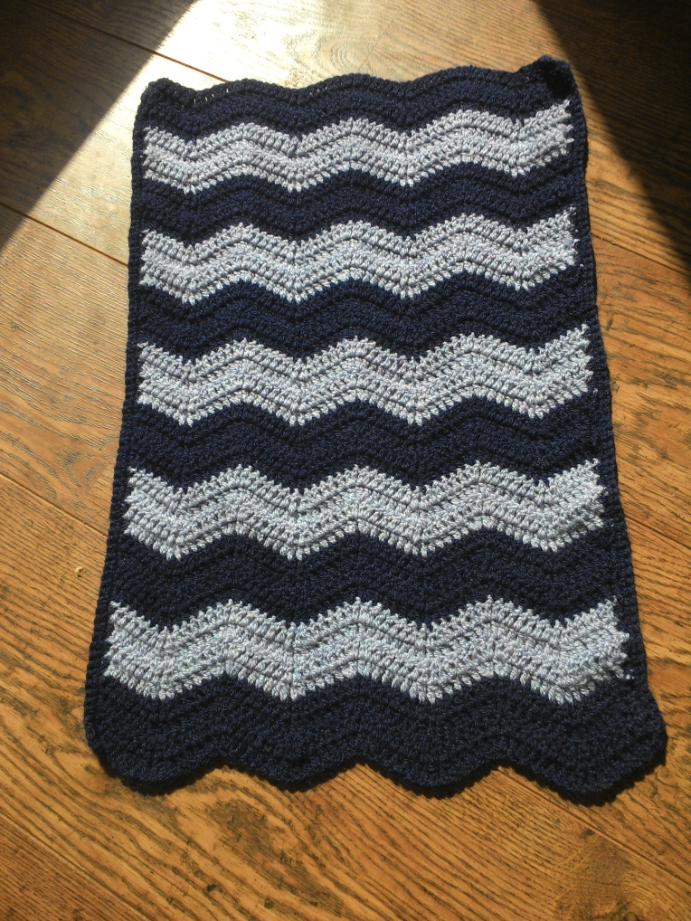ripple baby blanket crochet