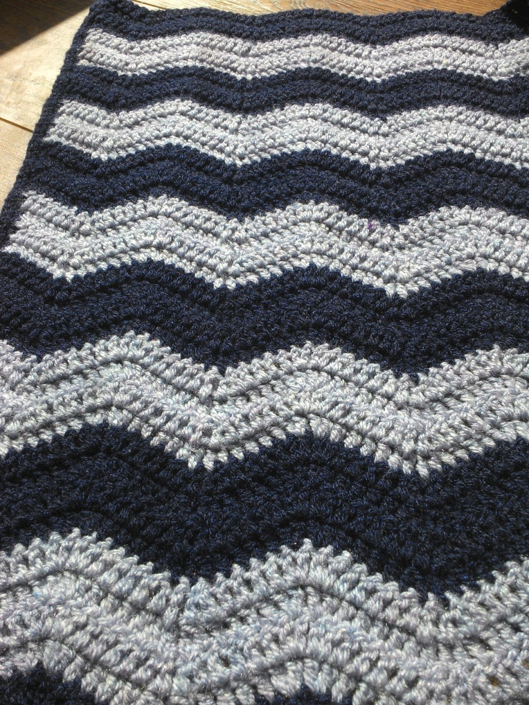 ripple baby blanket crocet