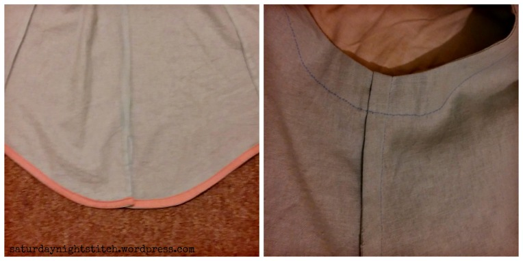 hem and armholes