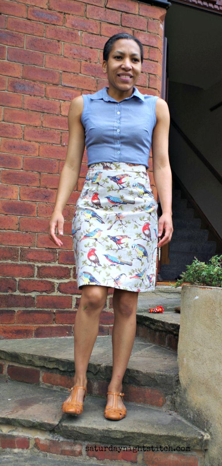 Cath Kidston  birds fabric skirt