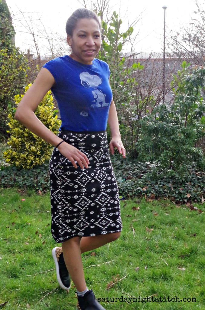Self Drafted Pencil Skirt 2