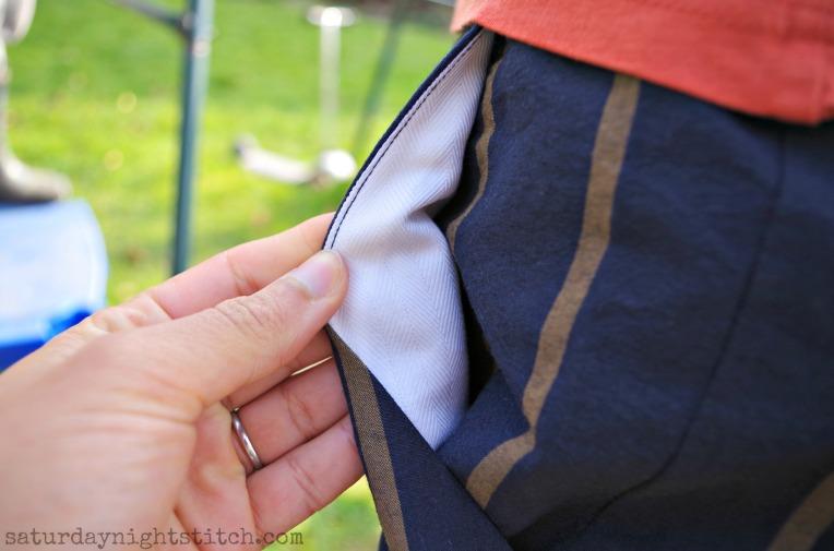 M6973 Pocket lining detail