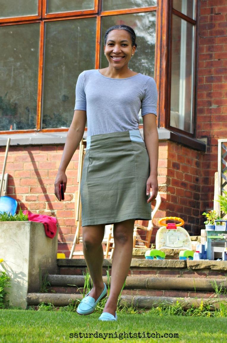 Self drafted skirt