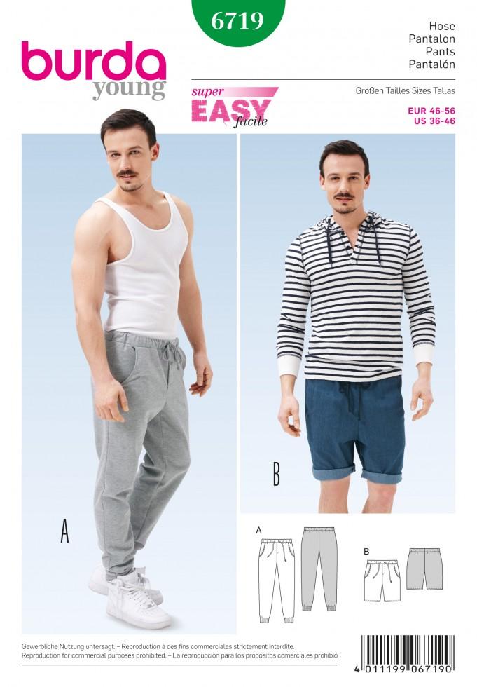 Burda Young B6719 Mens Casual Pants Pattern Review – saturday night ...